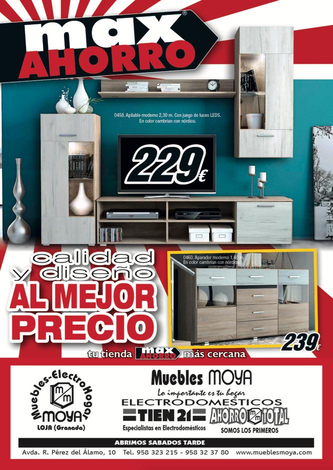 folleto max ahorro muebles moya 2017