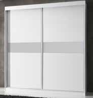 armario de dos puertas en blanco y plata