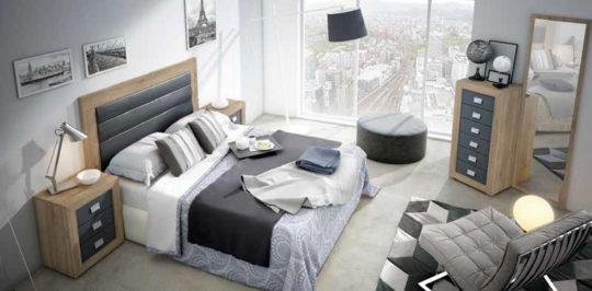 Dormitorio de matrimonio moderno en cambrian y pizarra