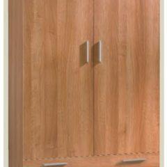 Armario de dos puertas y dos cajones de melamina