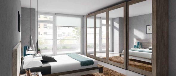 Armarios de fábrica para dormitorios de matrimonio en Muebles Moya