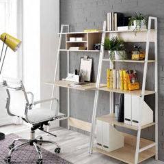 Conjunto de escritorio y mesa de estudio de estilo nórdico