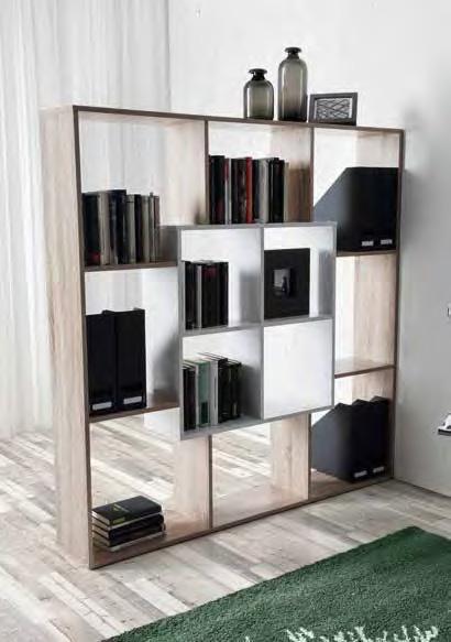 Estantería librería para espacios de trabajo y salón