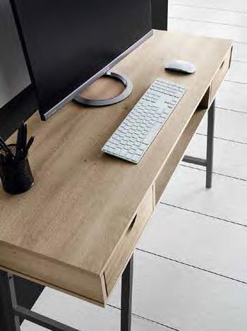 Mesa de escritorio nogal y negra