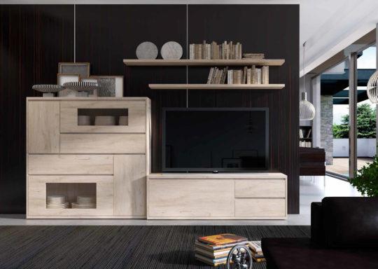 Composición de muebles de salón de estilo moderno