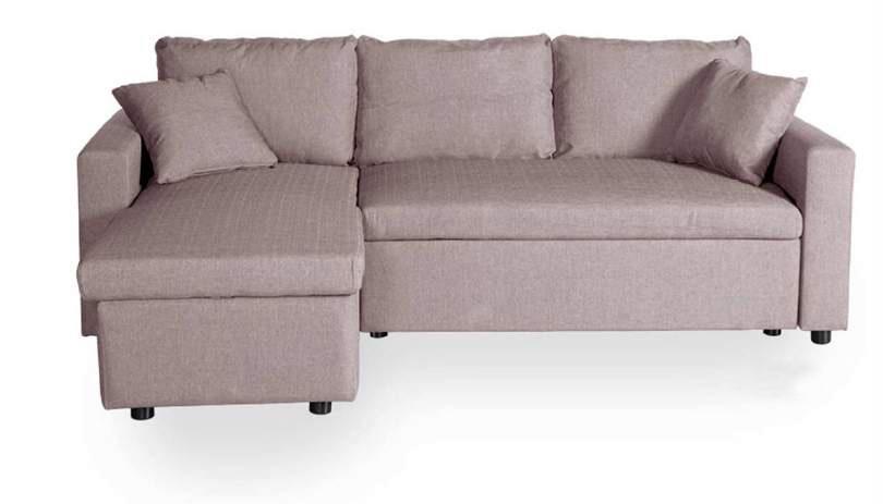 Sofá chaise longue cómodo en rosa palo