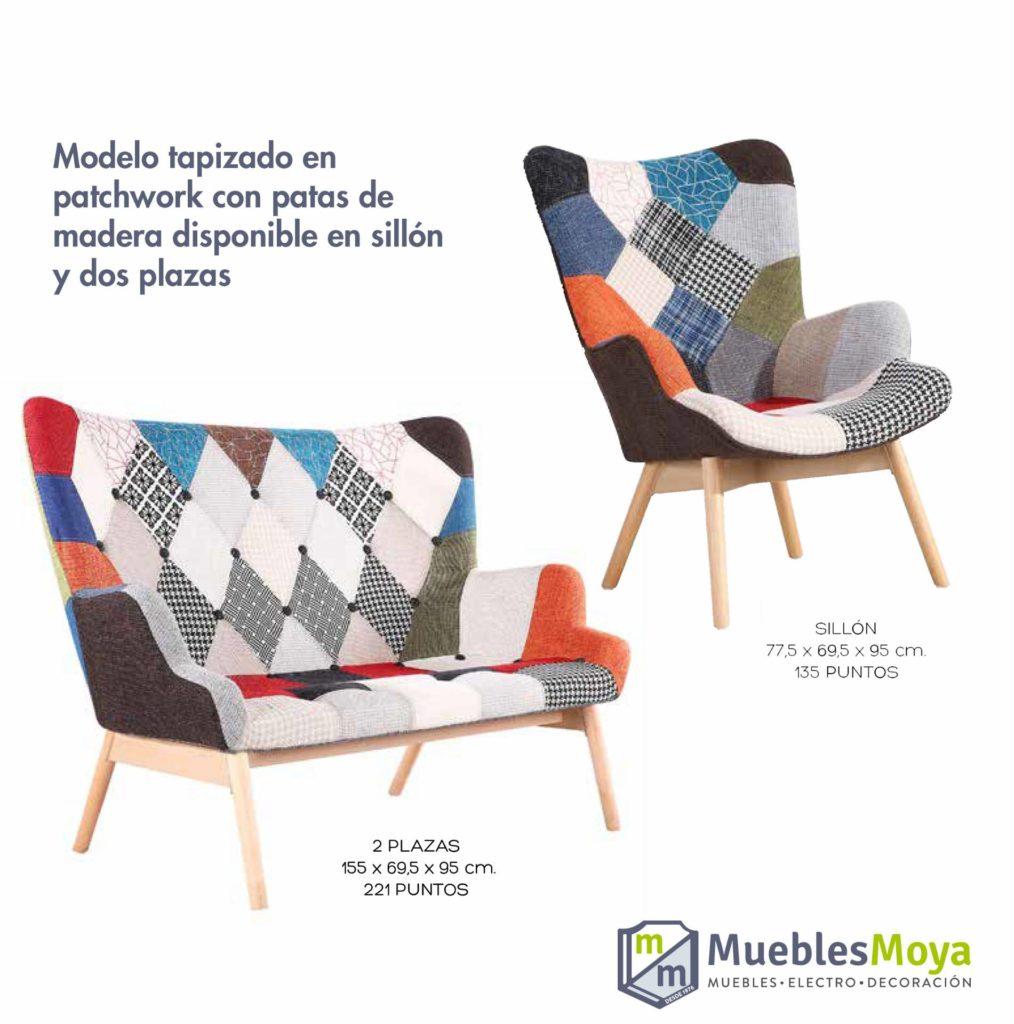sillon y sofa tapizados patchwork