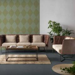 Conjunto para terraza o salón con sofás y mesa