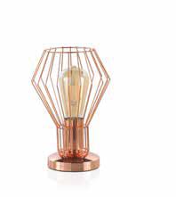 Lampara metal cobre 9081 de diseño industrial