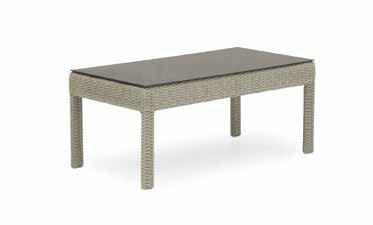 mesa de centro de jardin de aluminio trenzado
