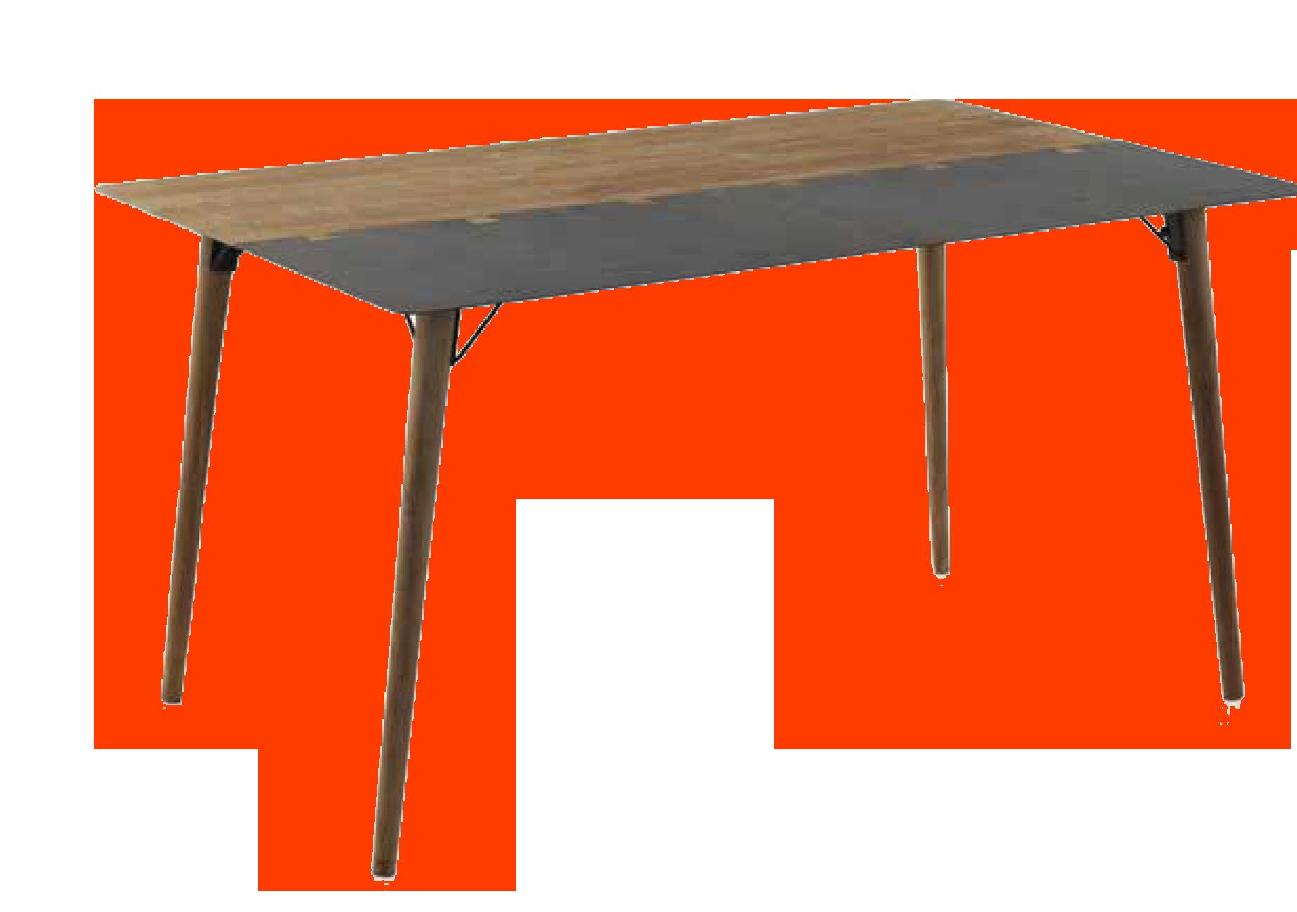 Mesa de comedor madera/metal - Muebles Moya Tienda Online