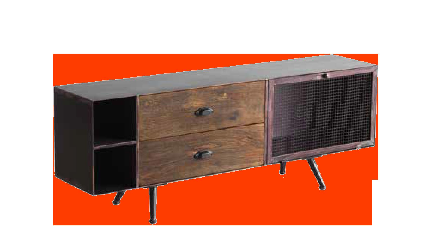Mueble TV para comedor retro