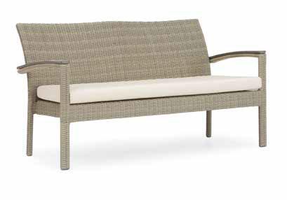 sofa de conjunto aluminio trenzado