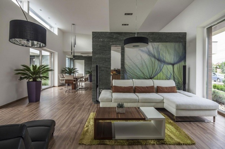 Decoración y distribución de salones de hogar