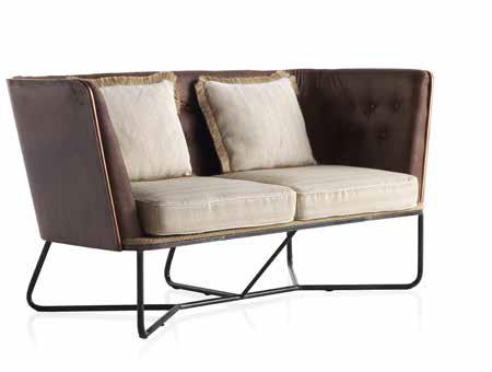 sofa 2 plazas tapizado capitone
