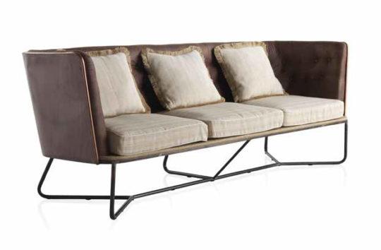 sofa 3 plazas tapizado capitone