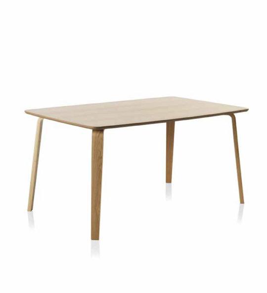 Mesa de comedor madera color roble