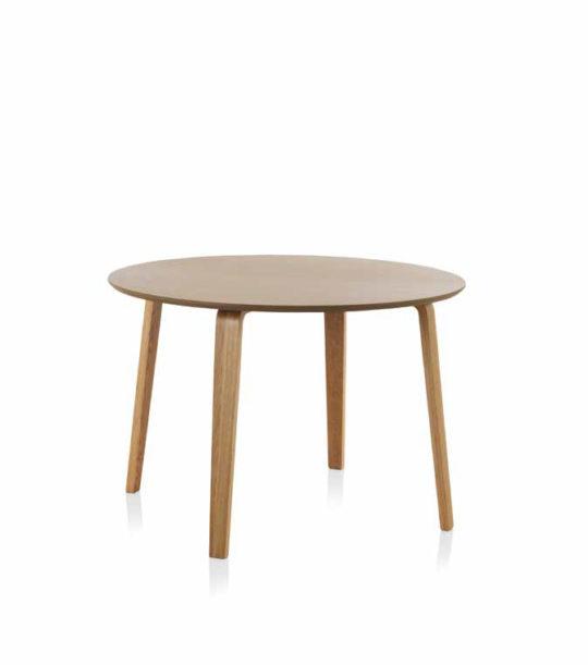 Mesa de comedor redonda en madera