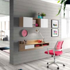 escritorio colgante estilo nordico blanco y cambrian