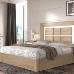 Dormitorio de matrimonio modelo Moscú en cambrian y blanco