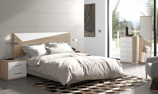Composición de Dormitorio de matrimonio en cambrian blanco