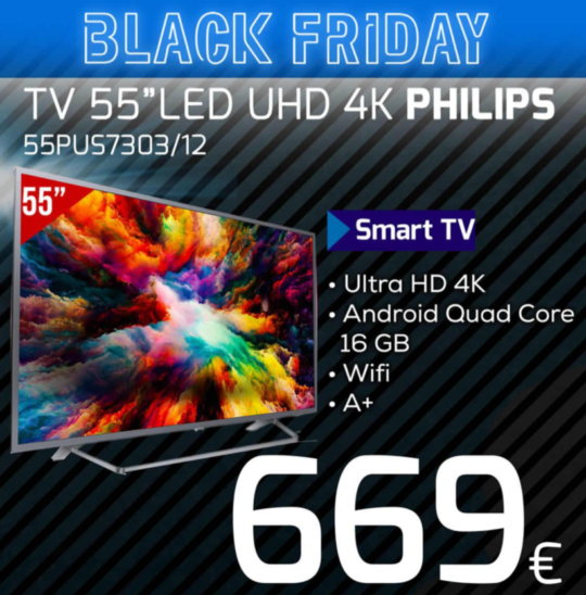 Television PHILIPS 55 pulgadas black friday