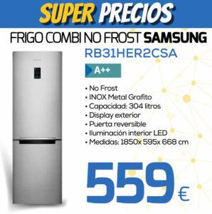 frigorifico combi no frost samsung RB31HER2CSA