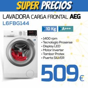 lavadora carga frontal AEG L6FBG144