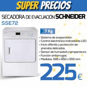 secadora evacuacion schneider SSE72