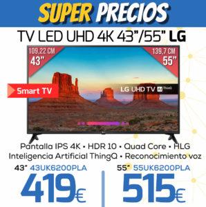 TV LED UHD 4K 43 55 LG