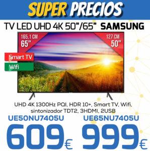 TV LED UHD 4K 50 65 SAMSUNG