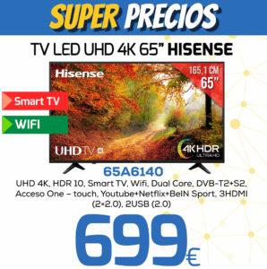TV LED UHD 4K 65 HISENSE