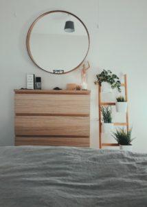 Espejo circular habitación