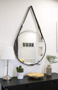 Espejo circular colgante