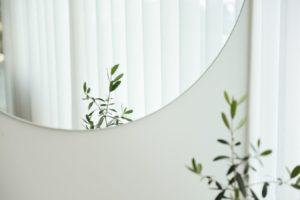 Espejo circular pared