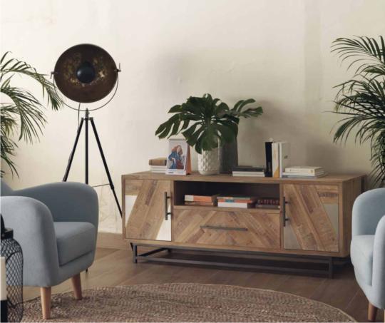 Mueble Tv Madera Abeto Conjunto