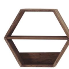 Estante Hexagonal De Pino Reciclado