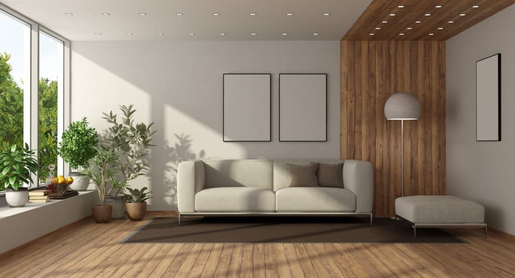 Minimalist Living Room With Large Window